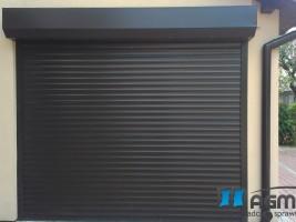 brama rolowana, ciemny brąz standerd RAL 8019