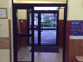 drzwi wewnętrzne alu, brąz strd. RAL8019