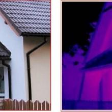 dom z kamery termowizyjnej